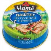 Паштет HAME 250гр из гусиной печени ж/б  1/8