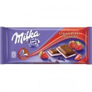 Милка  100гр. Strawberry Yoghurt ВНИМАНИЕ 1/20 (клубника йогурт)