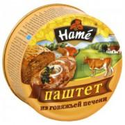 Паштет HAME 117гр из говяжей печени ж/б  1/10