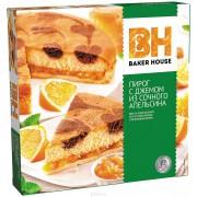 Пирог 550гр Апельсин Baker House песочно-бисквитный  1/6