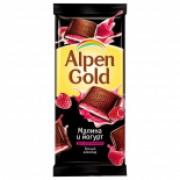 Альпен-голд 90 гр. темный-малина-йогурт нач. 1/20