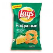 Лейс 150 гр. рифлёные нежный сыр лук  1/18