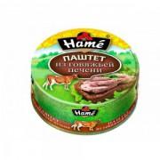 Паштет HAME 250гр из говяжей печени ж/б  1/8